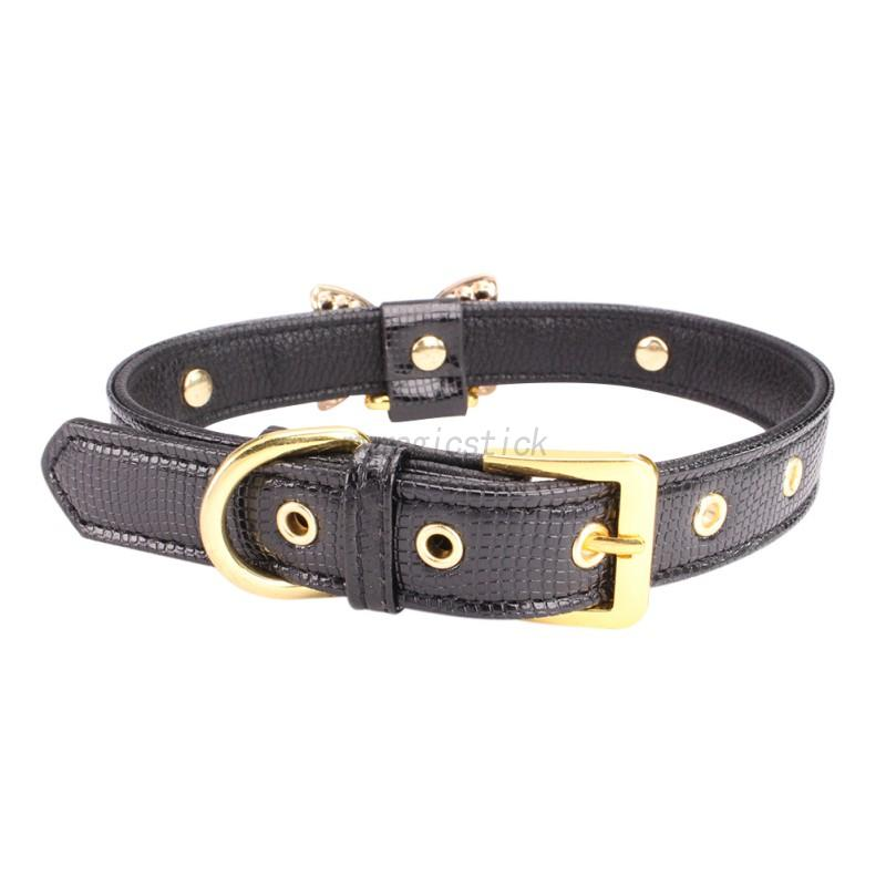 Small-Pet-Dog-PU-Leather-Collar-Puppy-Cat-Buckle-Neck-Crystal-Bowknot-Strap-Cute thumbnail 14