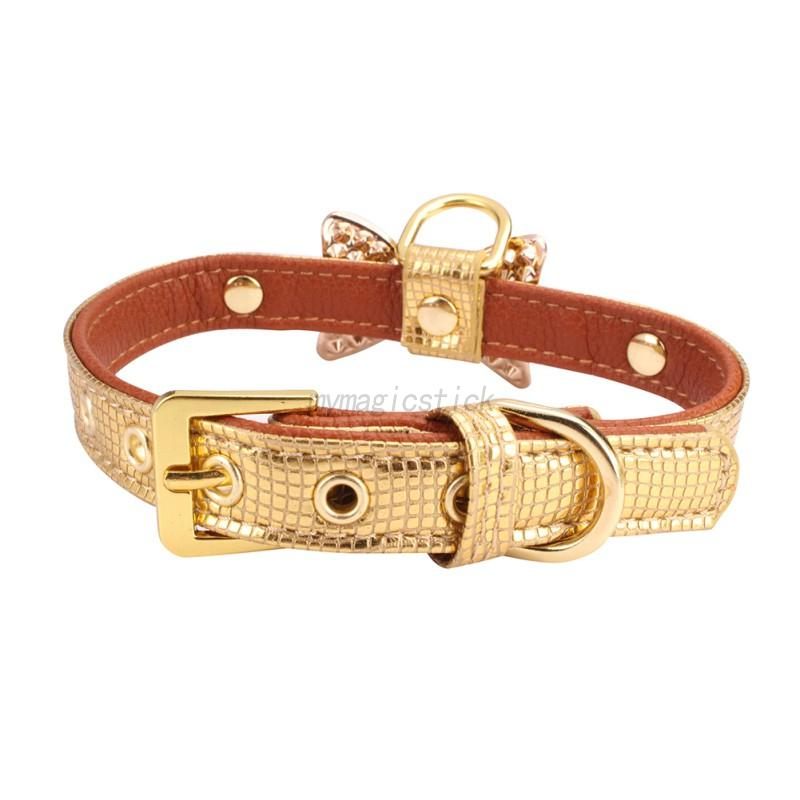 Small-Pet-Dog-PU-Leather-Collar-Puppy-Cat-Buckle-Neck-Crystal-Bowknot-Strap-Cute thumbnail 16