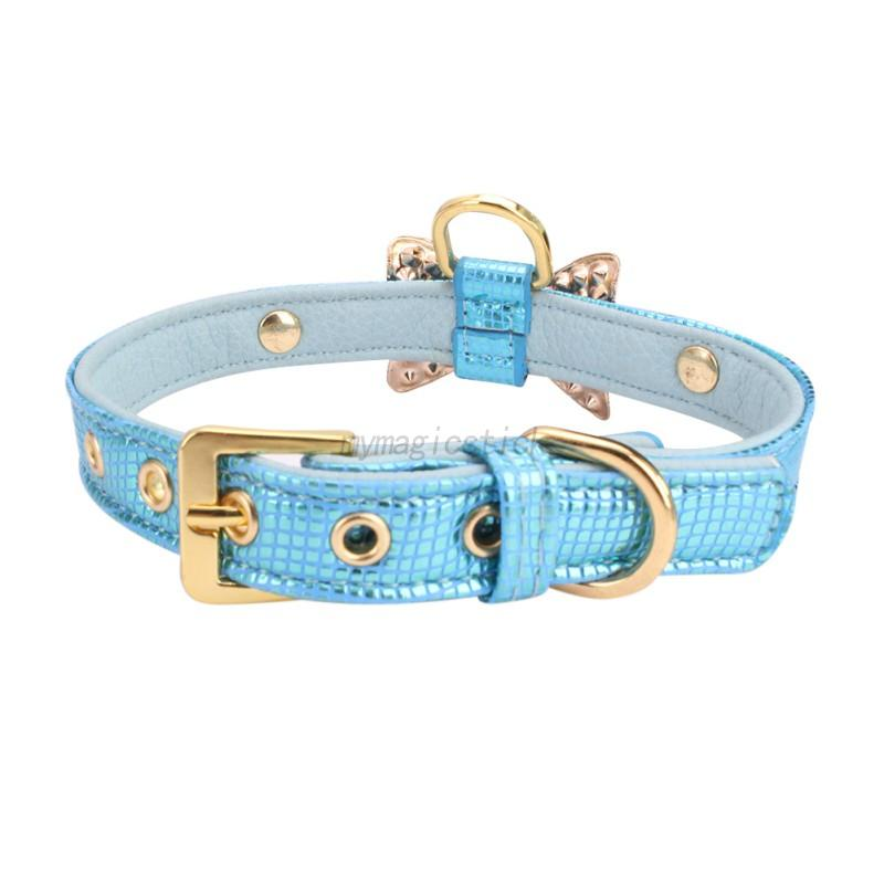 Small-Pet-Dog-PU-Leather-Collar-Puppy-Cat-Buckle-Neck-Crystal-Bowknot-Strap-Cute thumbnail 10